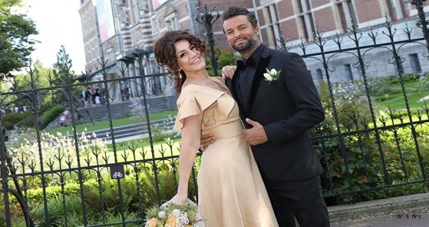 Banu Noyan ve Ata Çağlayan Amsterdam'da evlendi