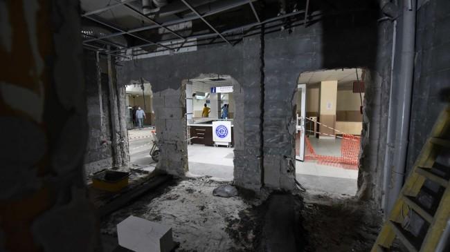 EÜ Hastanesinde yenileme ve onarım çalışmaları sürüyor
