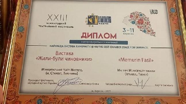 ''Memurin Faslı'' oyununa Ukrayna Tiyatro Festivali'nden iki ödül